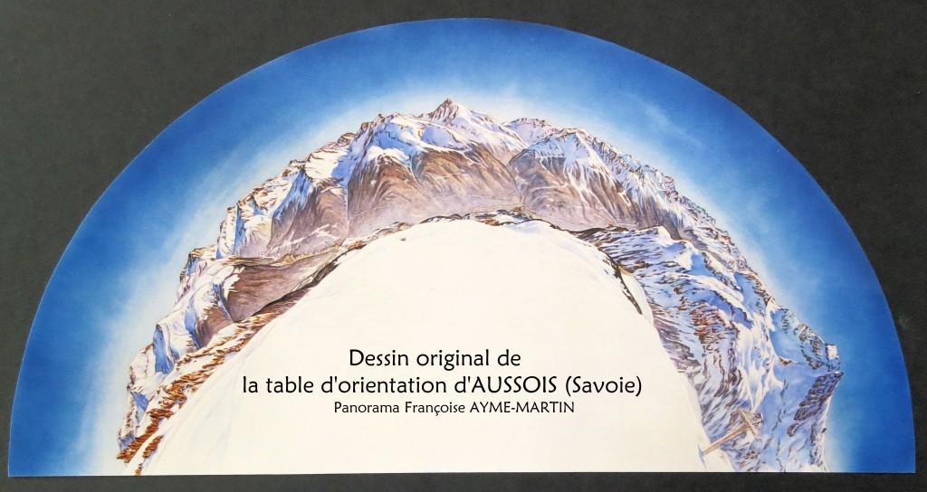 Maquette table d'orientation d'AUSSOIS (Savoie)