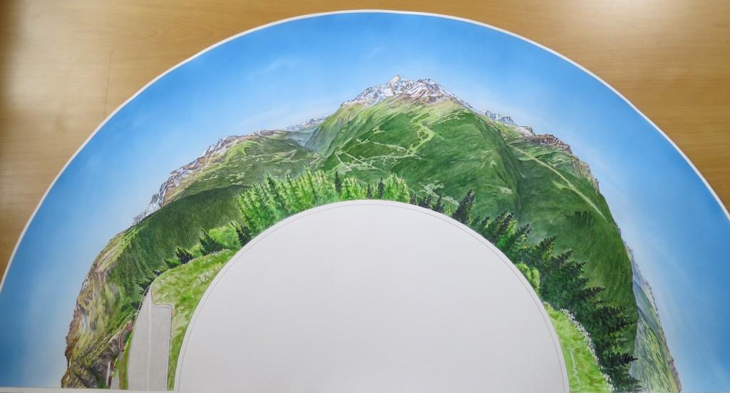 Maquette de la table d'orientation de LA ROSIERE (Savoie)