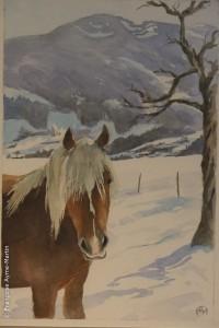Illustration Paysage d'hiver.