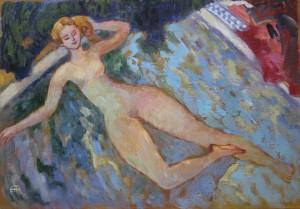 PETITE BAIGNEUSE février 2016 Acrylique sur toile, 35x50cm