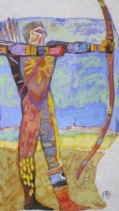 ARCHER Encre sur papier, 10x15 cm
