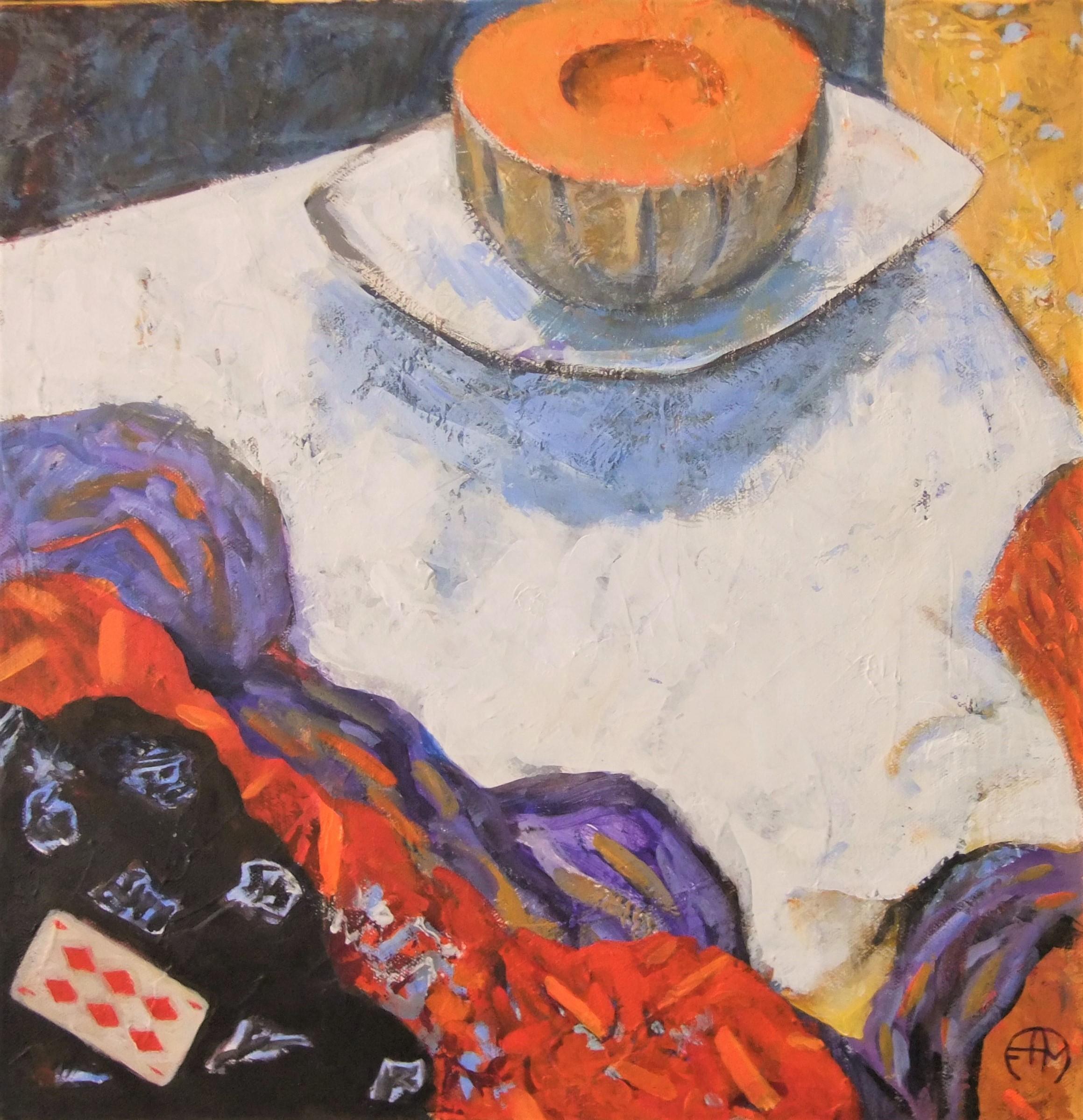 Françoise AYME-MARTIN Le melon, peinture acrylique sur toile, avril 2020